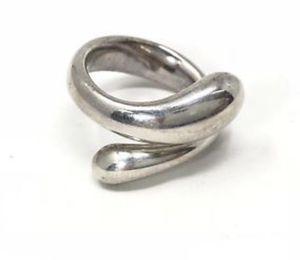 Tiffany & Co. 925 Silver Sterling Elsa Peretti Teardrop Ring Size 41/2 for Sale in Riverside, CA