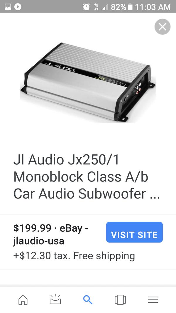JL audio 10 with 500 watt