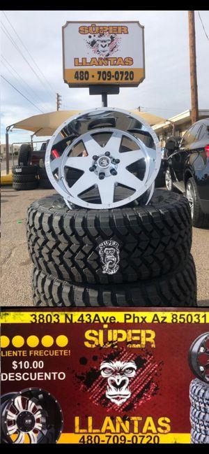 20x12 rines y llantas for Sale in Phoenix, AZ