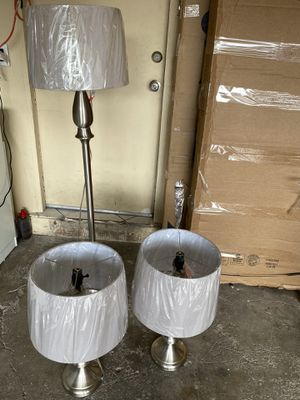 Allen + roth norabelle 3 Pieces set standard lamp!! for Sale in Las Vegas, NV