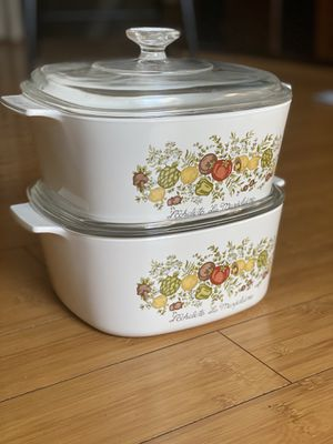 2 Vintage Spice of Life 3 Qt Corningware Casserole Dishes for Sale in San Diego, CA