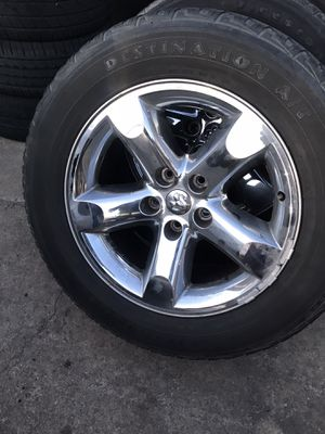 "20"" Dodge Ram Factory Rims and Tires 5Lug for Sale in Virginia Beach, VA"