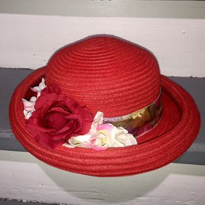 Women's Red Hat With Flowers for Sale in Providence, RI