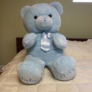 Large My First Teddy Bear For A Baby Boy for Sale in Elmhurst, IL