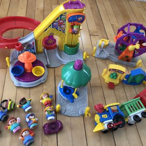 Little People Amusement Park and Train Playset for Sale in Chaska, MN