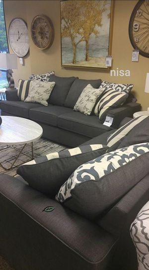 $39 Down  🍃🍂 BEST DEAL Levon Charcoal Living Room Set 302 for Sale in Jessup, MD
