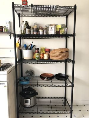 Kitchen/storage shelves/rack. 4 rows for Sale in San Francisco, CA