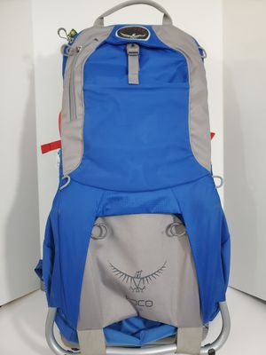Osprey Poco Plus Child Carrier Baby Hiking Backpack, Blue for Sale in Arlington, TX
