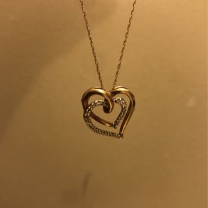 14k Necklace & Heart Charm for Sale in Columbia, SC