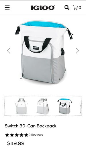 Igloo cooler back pack for Sale in Hayward, CA