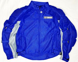 Yamaha Padded Motorcycle Jacket Mens XL (blue & Gray) 3M Reflection Breathable for Sale in San Antonio, TX