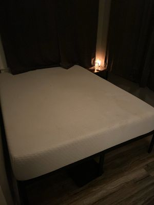 Tuft and Needle Queen Size mattress $300 and bed frame $40 for Sale in Phoenix, AZ