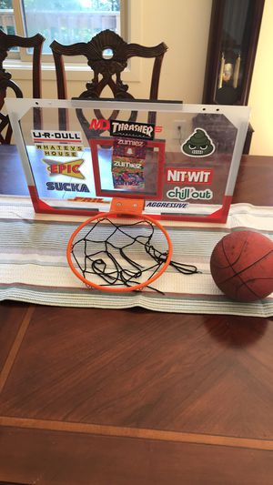 Small Basketball hoop - perfect for a Boy's bedroom! for Sale in Newtown, CT