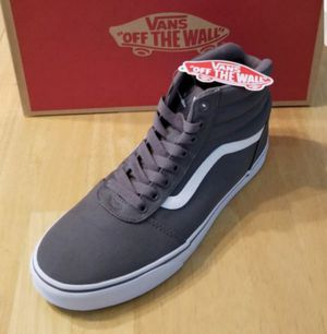 *NIB*Men's Vans Ward HI, canvas, Pewter/White. *See my page for more Vans, UA, Converse* for Sale in Maple Valley, WA