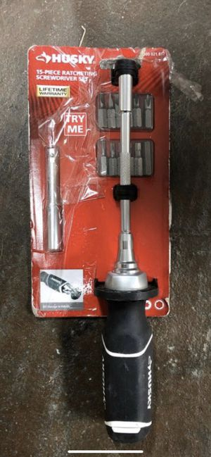 Husky 15-Piece Ratcheting Screwdriver Set for Sale in Tacoma, WA