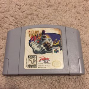 Clay Fighter 63 1/3 N64 for Sale in Austin, TX