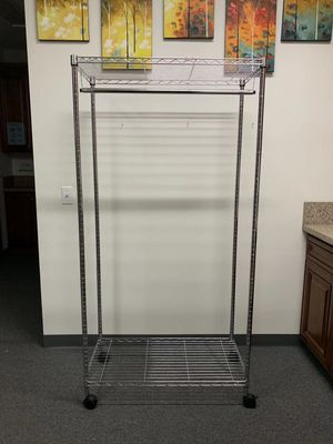 New in box 18x36x70 inches tall heavy duty rolling clothes organizer garment rack adjustable height for Sale in Whittier, CA