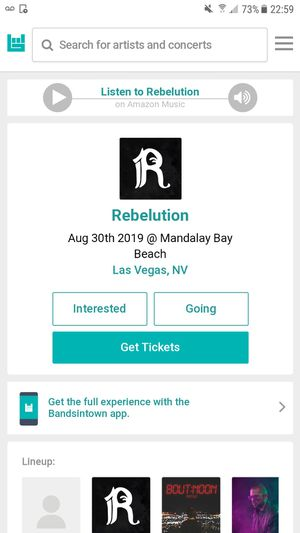 Rebelution lasvegas madalay bay 30th for Sale in Ontario, CA