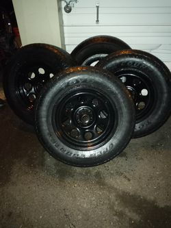 """DURANGO or JEEP STEEL 17x9 RIMS & TIRES. """" ONLY 3 RIMS""""!!! for Sale in Portland,  OR"""