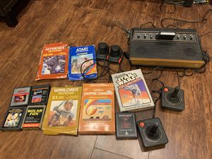 Atari 2600 with 10 games for Sale in Cuyahoga Falls, OH