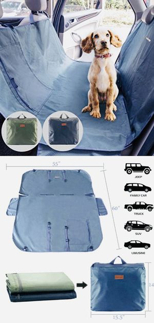 New PetBemo universal car seat dog cat pet cover waterproof stain proof machine washable soli resistsnt scratch proof hammock nonslip green for Sale in Whittier, CA