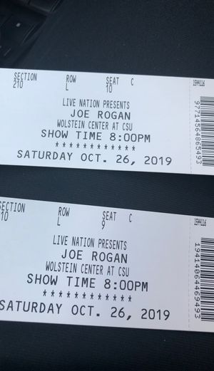 2 Tickets to Joe Rogan Show for Sale in Parma Heights, OH