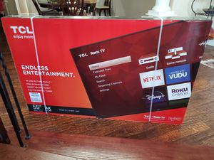 Tcl 55 inch roku 4k ultra smart led tv .... new in box and sealed for Sale in Plano, TX
