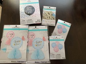 Baby shower / Team boy Team girl / Gender Reveal decorations party supplies for Sale in Raleigh, NC