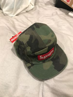 Supreme Front panel zip Camp Cap (camo) Ss17 for Sale in Glendale, CA