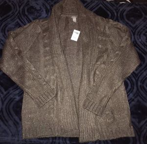 New women's brown glitter cardigan size L for Sale in Phoenix, AZ