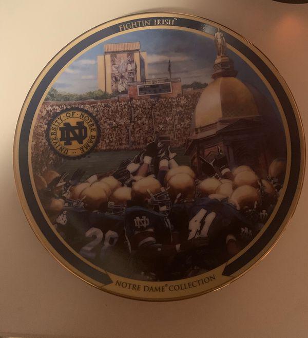 Notre Dame commemorative plate