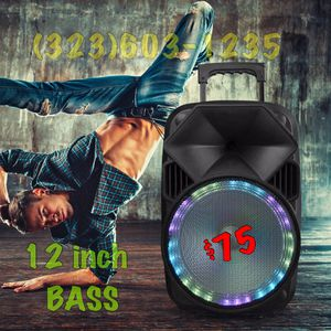 12 Inch Bluetooth Speaker • Loud W/ Bass • New In Box 💥 BBQ READY💥Get it Delivered* for Sale in Los Angeles, CA