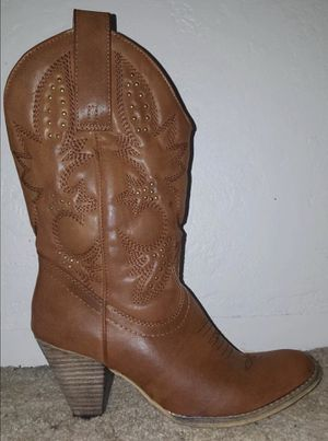Brown/Tan Cowgirl boots 8.5 for Sale in Modesto, CA