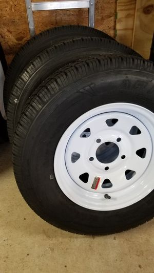 ST175/80D13 TRAILER TIRES AND WHEELS 5 LUG $70+ TAX ( OTHER SIZES AVAILABLE) for Sale in Douglasville, GA