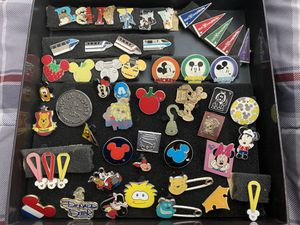DISNEY PINS BUNDLE - 53 Total - All Pins have Backings for Sale in Santa Fe Springs, CA