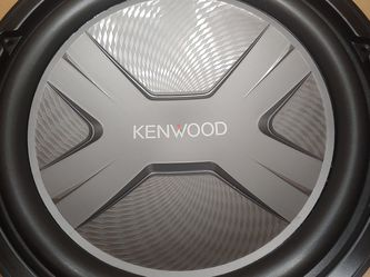 KENWOOD 12 inch 2000 watts single Coil 4 ohm Car subwoofer for Sale in Bell Gardens,  CA