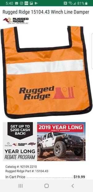 Rugged ridge Winch Line Damper for Sale in Whittier, CA