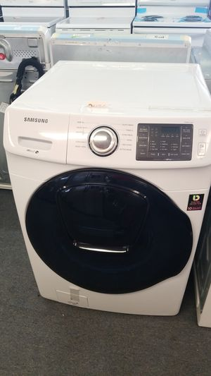 New scratch and dent Samsung vrtplus he front loader washer 1 year warranty for Sale in Saint Petersburg, FL