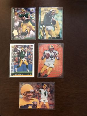 Green Bay Packers Brett Favre 5 cards for Sale in Lynchburg, VA