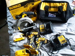 20v XR impact and hammer drill & 20v max circular saw. 2 batteries and 2 chargers. for Sale in Lansing, KS