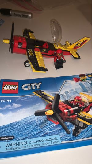 LEGO 60144 City Race Plane. Complete with figure and instructions. for Sale in Gilbert, AZ