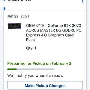 Gigabyte AORUS Master RTX 3070 for Sale in Spotswood, NJ