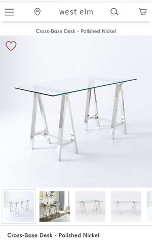 Desk with glass top for Sale in Las Vegas, NV