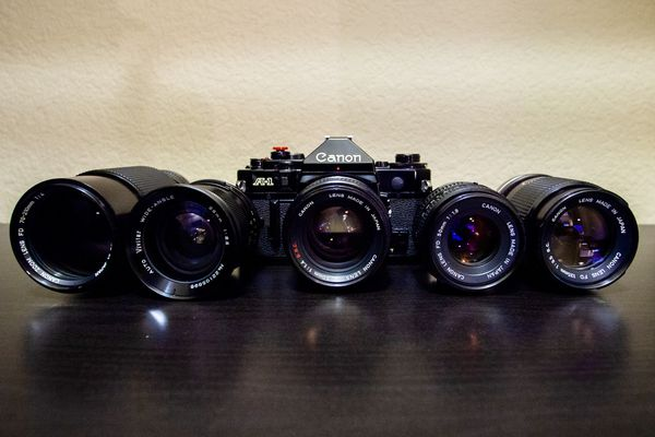 Canon A-1 35mm Film camera and lenses **EXCELLENT COND**