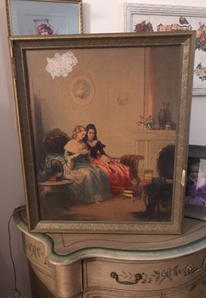 Gorgeous! Vintage Antique Victorian Picture for Sale in Gainesville, VA