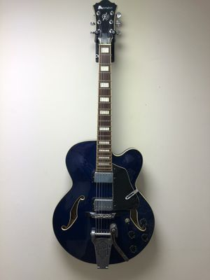 Blue Ibanez Hollow Body AFS Guitar (with case) for Sale in Birmingham, AL