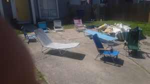 Assorted camping in beach chairs price to move for Sale in Virginia Beach, VA