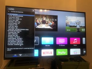 48in smart Tv Vizio 1080p with PS4 with 4 games for Sale in Upland, CA