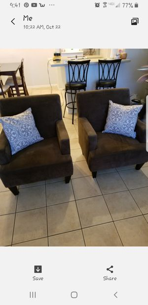 A pair of microfiber chairs for Sale in Alamo, GA