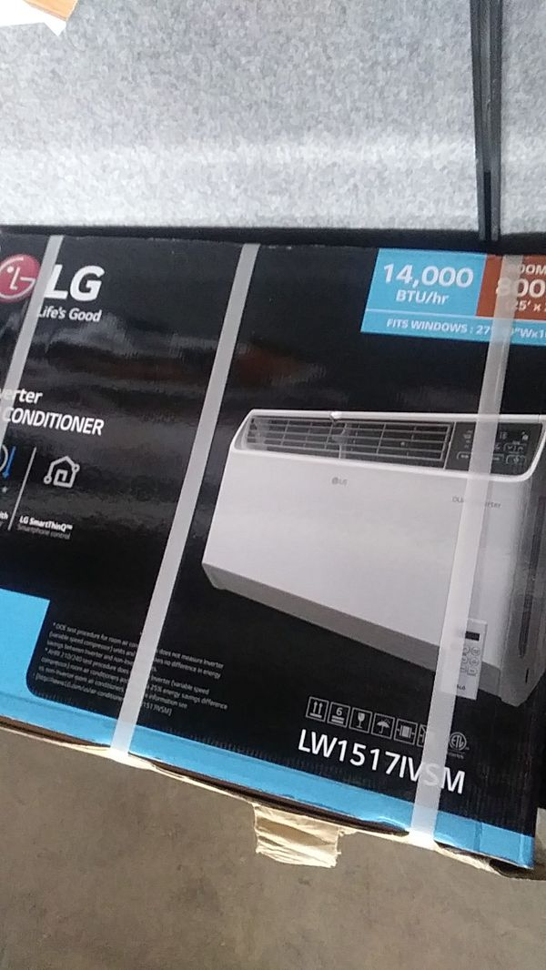 LG 14,000 BTU DUAL inverter smart wifi enabled window air conditioner